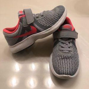 Nike revolution size 11 little girls shoes